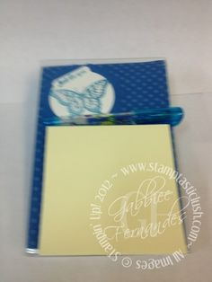 Stampin Up! Post It Note Desktop