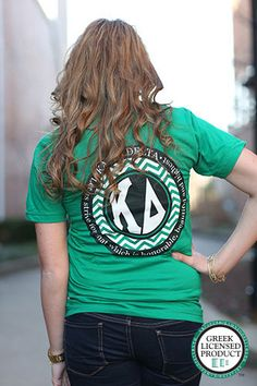 Kappa Delta Chevron American Apparel Tshirt by DesignsbyBurnaleeja on Etsy