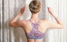 eco friendly bras & intimates // MAJAMAS // comfy supportive floral printed racerback bra made from recycled performance fabric with stretch elastic, no clasps, & removable pads for everyday, low-impact workout or yoga // be the change & learn to love ecofashion intimates & USA MADE // wear beautiful clothing that doesn't harm our beautiful planet