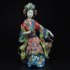 Arte popular de porcelana de cerámica tradicional china fair lady syx017 figurita colección vivid y artesanía elegante para el regalo(China (Mainland))