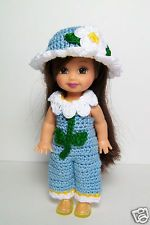 Crochet Kelly Doll Daisy Flower Jumper Hat Clothes New Handmade