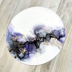 New painting abstract watercolor alcohol inks ideas Alcohol Ink Crafts, Alcohol Ink Painting, Alcohol Ink Art, Acrylic Pouring Art, Acrylic Art, Epoxy Resin Art, Art Diy, Contemporary Abstract Art, Abstract Watercolor