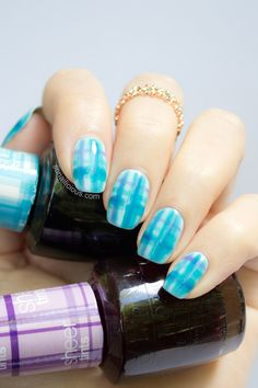Tartan Nail Art Tutorial with OPI Sheer Tints