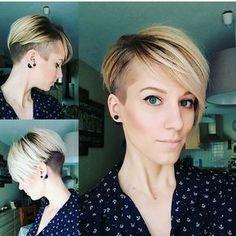 "4,257 Likes, 19 Comments - Short Hairstyles Pixie Cut (@nothingbutpixies) on Instagram: ""undercut pixie on @petitemusareigne """