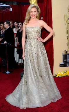Cameron Diaz from Best Dressed Stars Ever at the Oscars  Found: The ultimate glamorous gown! Back in 2010, the bombshell crushed the red carpet in a stunning beaded Oscar de la Renta design.