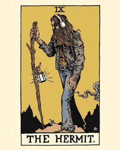The Hermit - Tarot