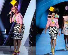 Katy Perry Rocks '80s-Themed Christian Dior Fashion at the VMAs (2011) via mirror80