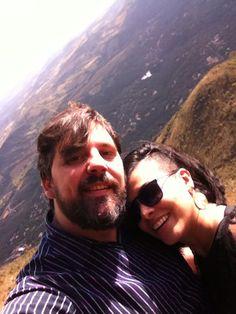 Eu e ela no topo do mundo
