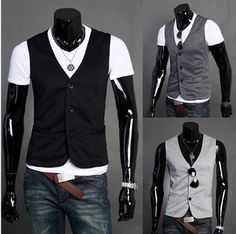 Men's Casual Slim Fitting Vest
