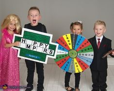 Wheel of Fortune - 2016 Halloween Costume Contest Halloween Costume Contest, Family Halloween Costumes, Halloween Costumes For Kids, Fall Halloween, Halloween 2019, Kids Costumes Boys, Boy Costumes, Halloween Activities For Toddlers, Buzz Lightyear Costume