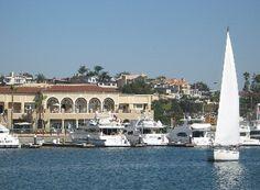 Enjoy a Mediterranean type of getaway at Southern California's Balboa Bay Club, in Newport Beach