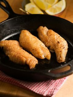 Chef Michael Smith | recipe | Pan Fried Whitefish - I think i'd add some Parmesan in there too. Yum! Great recipe prepared in a Lodge Cast Iron Skillet! Produced in South Pittsburg, TN since 1896!