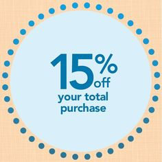 #Coupon for you! 15% off your total purchase through June 1! Via Jo-Ann's Pinterest!
