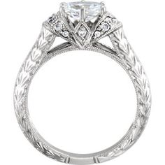 Item #: 69821:201:P B 14kt White 1/6 CTW Diamond Semi-Mount Engagement Ring for 7x5mm Oval Center | Stuller