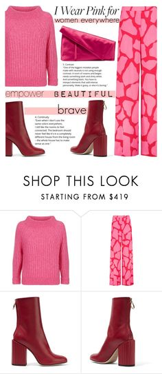 """""""Breast Cancer Awareness: Stay Strong"""" by katerin4e-d ❤ liked on Polyvore featuring 3.1 Phillip Lim, MSGM, Petar Petrov and Diane Von Furstenberg"""