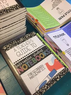 was asked to present Interactive Student Notebooks at our Gulf Regional Innovative Teaching Conference. I have used them in my classroom. Interactive Notebooks Kindergarten, Interactive Journals, Science Notebooks, Geometry Interactive Notebook, Teacher Notebook, Notebook Ideas, Notebook Labels, Notebook Design, Interactive Notebooks