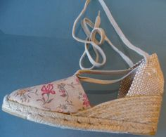 Andre Assous Made in Spain Linen Floral by TheOldBagOnline on Etsy, $39.99