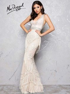MacDuggal 50404-IvoryNude size 4 Available now @4LavishBoutique  http://www.wvlavishboutique.com