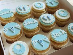Baby boy/Christening cupcakes