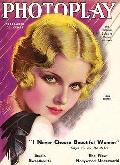 Vintage Movie Magazine Cover - Joan Bennett - September 1930