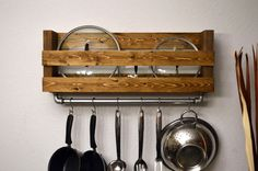 Rustic Kitchen Pot Rack Lid Holder Industrial Cast Iron Pipe Towel ...