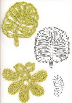 The charm of Irish lace - Complicated leaf pattens, part 2