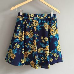 BOUTIQUE satin floral skirt Flouncy A line with black slip and another layer of black tulle to give a little bit of pouf. Elasticized waist to pull on. Alice moon Skirts Mini