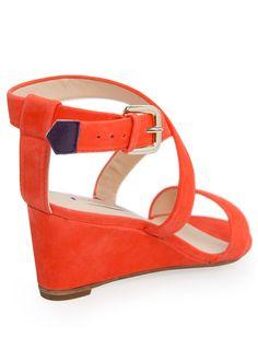 VIOLETA - Shoes - Nubuck wedge sandals