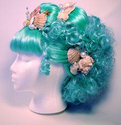 Beyond The Sea — florenceofalabia: Mermaid fashion appreciation. Mermaid Wig, Mermaid Tale, Halloween Fun, Halloween Costumes, Couple Halloween, Mermaid Parade, Costume Wigs, Sea Costume, Mermaids And Mermen