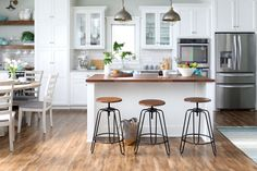 Get everything to refresh your kitchen for fall, the easy way. Find bar stools, accent furniture, & more at Walmart. Kitchen Redo, Home Decor Kitchen, New Kitchen, Home Kitchens, Kitchen Dining, Kitchen Remodel, Kitchen Cleaning, Kitchen Ideas, Walmart