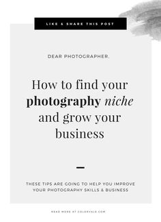 How to find your photography niche and grow your business