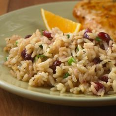 Cranberry Rice Pilaf ... A fresh tasting rice pilaf recipe flavored with dried cranberries, orange juice and thyme.