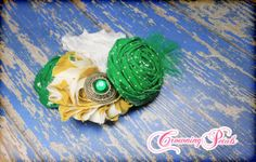 St. Patricks Day Headband Green Hair Accessories by CrowningPetals, $15.50