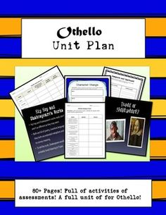 80++pages+of+activities+and+assessments.+This+Othello+unit+includes+the+following:Pre-Reading+Activities:-Shakespeare+or+Tupac+Introduction+game+-Othello+Mini-Research+Project-+Coins+Phrased+by+Shakespeare+Poster-Shakespearian+Web+Resources+sheet+During+Reading+Activities-Vocab+Charts-Character+Charts-Othello+Activity+Pack-Othello+Homework+Writing+Prompts+-Othello+Dialogue+ChartPost-Reading+Activities-Quizzes-Timed+Writing+Activities