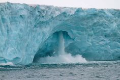 Much Info: Spectacular Glacier Falls in Svalbard, Norway