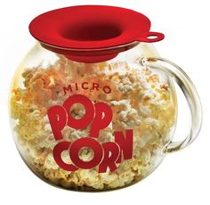 The 3-quart, glass Micro-Pop Popcorn Popper makes fresh, hot popcorn in the microwave in just 2.5 minutes without the use of oil. The silicone lid measures kern