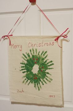 So cute...Handprint Christmas Wreath