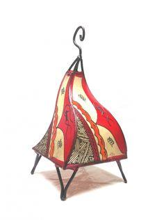 Moroccan Henna Table lamps -Red | Artsiya