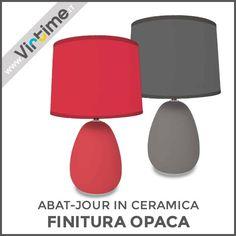 """Abat-jour in ceramica. Finitura opaca con paralume plastificato. 3 colori: Tortora, Grigio e Rosso. Confezione: Vassoio """"Virtime"""" - Abat-jour Assemblata Dimensione: H. 41 Diam. 25 cm Ref.: S30070/00  #Virtime #virtimehome #italy #italiandesign #interiordesign #decoring #italianfurniture #house #homeart #homedecor #tools #furnituredesign #detail #decoration #designideas #nofilter #unique #materials #decorating #instadecor #lampada #lampadina #luce #lamp #lightbulb #light #desk #articulated"""