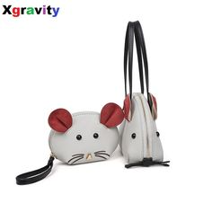 Drop Shipping European American Style 2017 New Little Mouse Cute Composite Bags Woman Fashion Unique Handbags Handbag&Purse H001-in Shoulder Bags from Luggage & Bags on Aliexpress.com | Alibaba Group