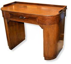 1930s Art Deco Walnut Desk