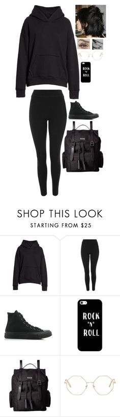 """""""outfit 439"""" by wonton-the-panda-dragon ❤ liked on Polyvore featuring Simon Miller, Topshop, Converse, Casetify, Dr. Martens and Chloé"""