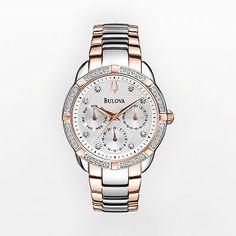 Bulova Watch - Women's Diamond Maribor Two Tone Stainless Steel - 98R177