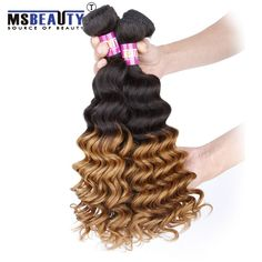 sbeauty Curly Hair Grade 7A  Brazilian Hair Curly Weave Deep Wave Hair Extensions Ombre hair Wefts