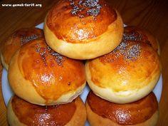Kolay Poğaça Tarifi Turkish Recipes, Ethnic Recipes, Savory Pastry, Bagel, Baked Potato, Creme, Tart, Cooking Recipes, Food