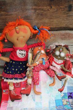 Купить Ах,эта свадьба... - комбинированный, текстильная кукла, ароматизированная кукла, интерьерная кукла, котики