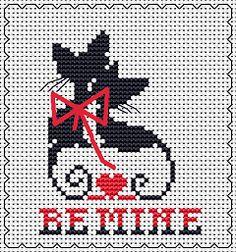 Be Mine free cross stitch pattern