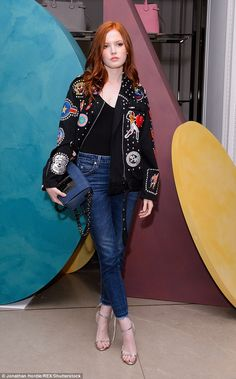 Sizzling star: Pride And Prejudice And Zombies actress Ellie Bamber no doubt ran into co-s...