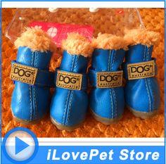 PETASIA Hond Schoenen Winter 4 stks/set Kleine Medium Hond Laarzen CottonWaterproof Anti Slip XS XL Schoenen voor Pet Product ChiHuaHua