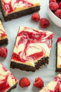 White chocolate raspberry cheesecake brownie ♡